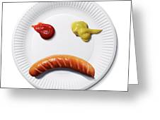 Sad Food Face Greeting Card