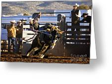 Saddle Bronc Riding Competition Greeting Card