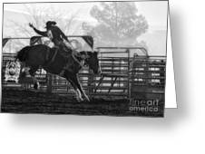 Saddle Bronc Riding Greeting Card