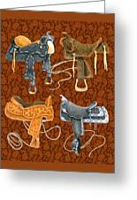 Saddle Leather Greeting Card