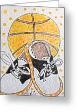 Saddle Oxfords And Basketball Greeting Card