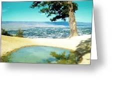 Saddle Rock Oasis Greeting Card
