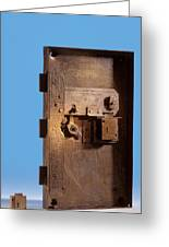 Safe Door From The Titanic Greeting Card