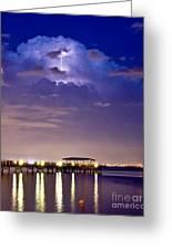 Safety Harbor Pier Illuminated Greeting Card