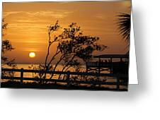 Safety Harbor Sunrise Greeting Card