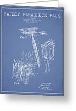 Safety Parachute Patent From 1919 - Light Blue Greeting Card