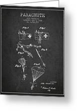 Safety Parachute Patent From 1925 - Charcoal Greeting Card