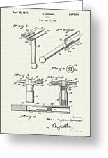 Safety Razor Patent 1937 Greeting Card