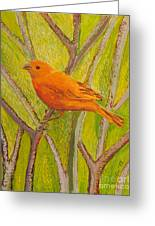 Saffron Finch Greeting Card