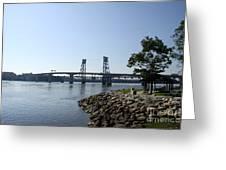 Sagadahoc Bridge Bath Maine Greeting Card
