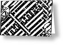 Sagittarius Maze  Greeting Card