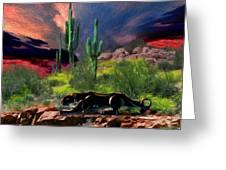 Saguaro Jaguaro Greeting Card
