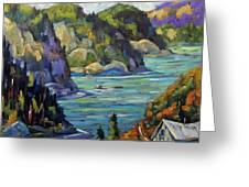 Saguenay Fjord By Prankearts Greeting Card