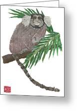 Tamarin Monkey Art Greeting Card