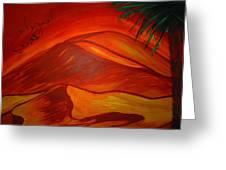 Sahara Kubry Greeting Card by Haleema Nuredeen