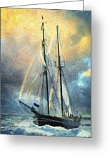 Sail Away To Avalon Greeting Card by Taylan Apukovska