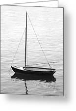 Sail Boat In Maine Greeting Card by Mike McGlothlen