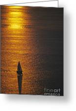 Sail Boat On Puget Sound Greeting Card