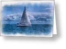 Sail Boat Photo Art 01 Greeting Card