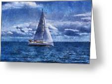 Sail Boat Photo Art 02 Greeting Card