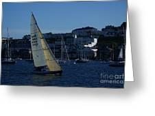 Sail Boat Racing Penryn River Five Spring 2010 Greeting Card