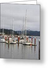 Sail Boats Waiting For Their Captains Greeting Card