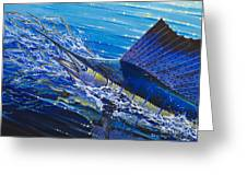 Sail On The Reef Off0082 Greeting Card