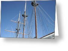 Sail Rigging Greeting Card