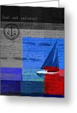 Sail Sail Sail Away - J179176137-01 Greeting Card by Variance Collections