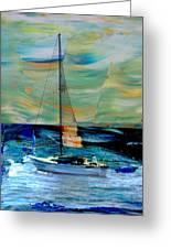 Sailboat And Abstract Greeting Card