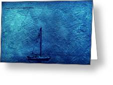 Sailboat As A Painting Greeting Card