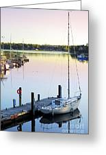 Sailboat At Sunrise Greeting Card by Elena Elisseeva