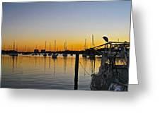 Sailboat Bay Greeting Card