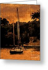 Sailboat By The Bridge Greeting Card