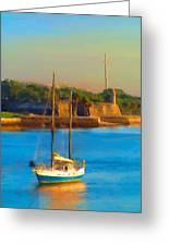 Da147 Sailboat By Daniel Adams Greeting Card