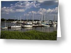 Sailboat Harbor At St. Simon's Island Greeting Card