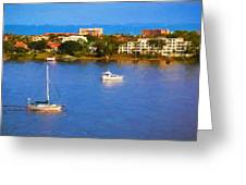 Sailboat In Holly Hill Greeting Card