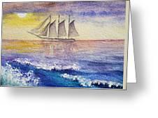 Sailboat In The Ocean Greeting Card