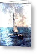 Sailboat Light W Metal Greeting Card