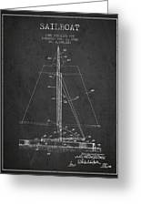 Sailboat Patent From 1932 - Dark Greeting Card