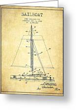 Sailboat Patent From 1932 - Vintage Greeting Card