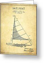 Sailboat Patent From 1962 - Vintage Greeting Card