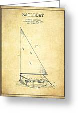 Sailboat Patent From 1991- Vintage Greeting Card