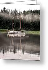 Sailboat Reflection Greeting Card
