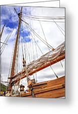 Sailboat Rigging Greeting Card