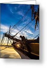 Sailboat Sunrise Greeting Card