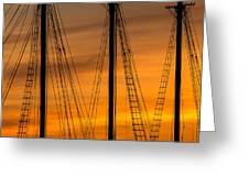 Sailboat Sunrise Greeting Card