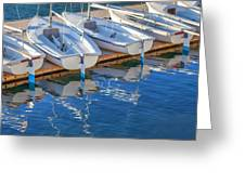 Sailboats And Dock Greeting Card by Cliff Wassmann