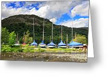 Sailboats At Glenridding In The Lake District Greeting Card