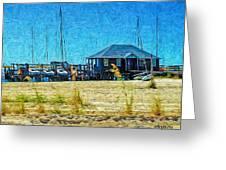 Sailboats Boat Harbor - Quiet Day At The Harbor Greeting Card